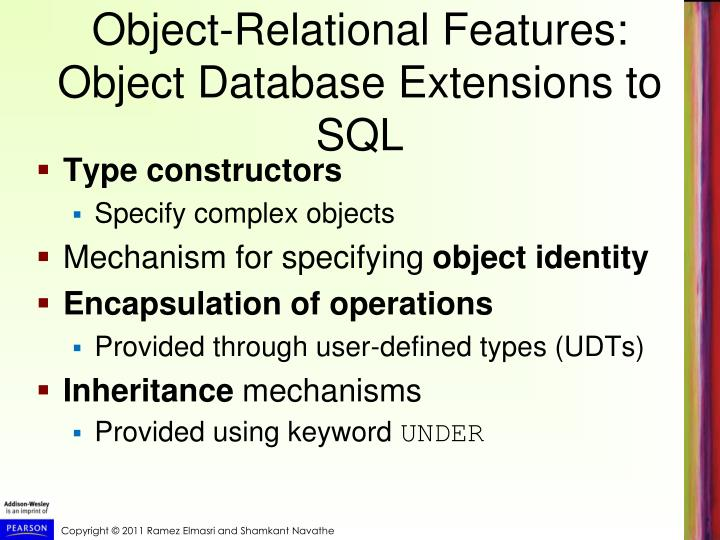 Object-Relational Features: