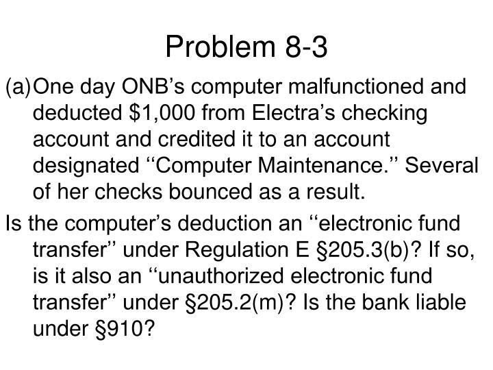 Problem 8-3