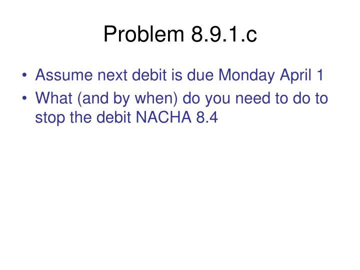 Problem 8.9.1.c