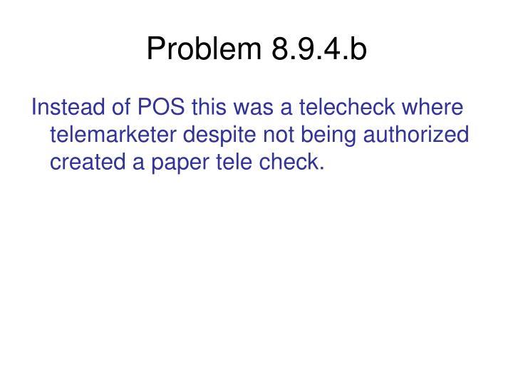Problem 8.9.4.b