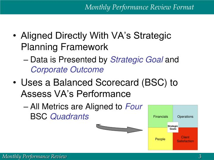 Monthly Performance Review Format