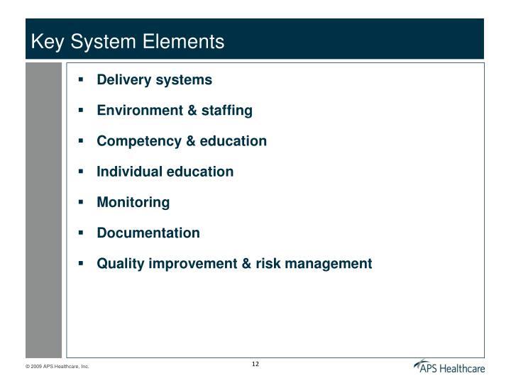 Key System Elements