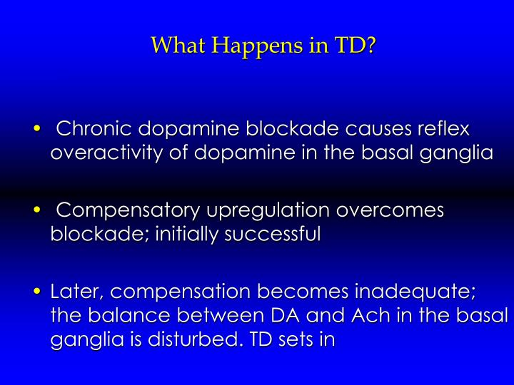 What Happens in TD?
