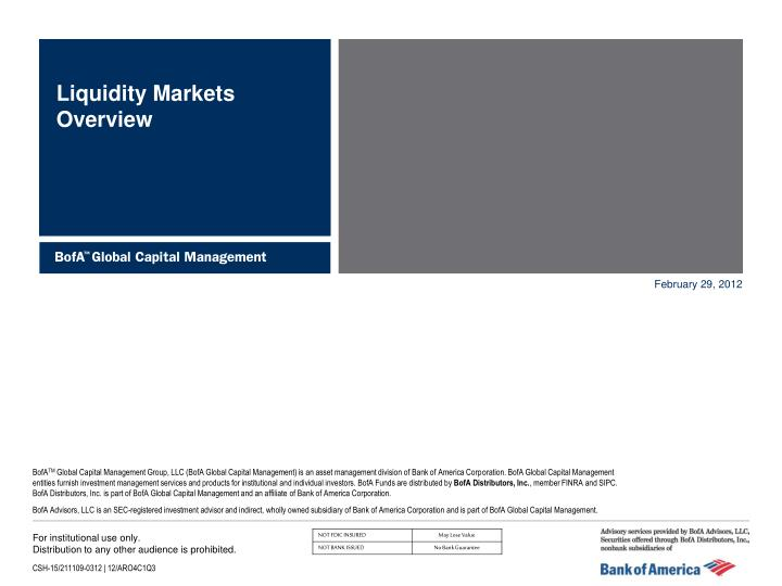 liquidity markets overview n.