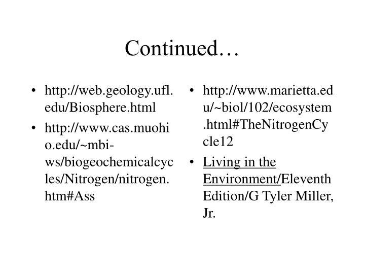http://web.geology.ufl.edu/Biosphere.html