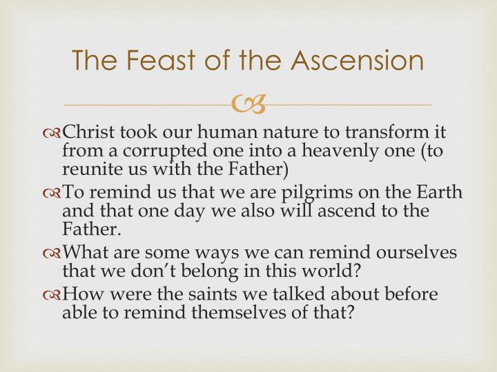 The Feast of the Ascension