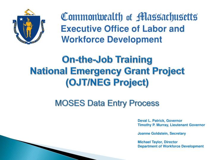 Ppt On The Job Training National Emergency Grant Project Ojt Neg