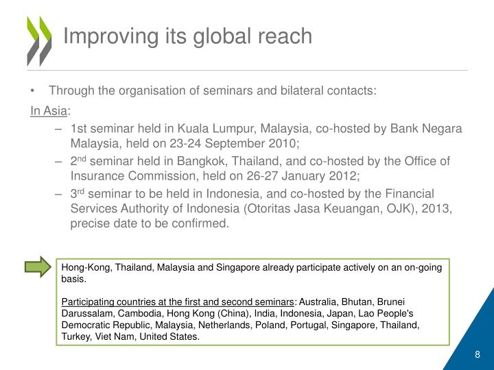 Improving its global reach