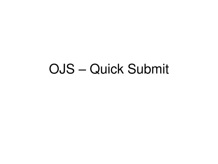 ojs quick submit n.