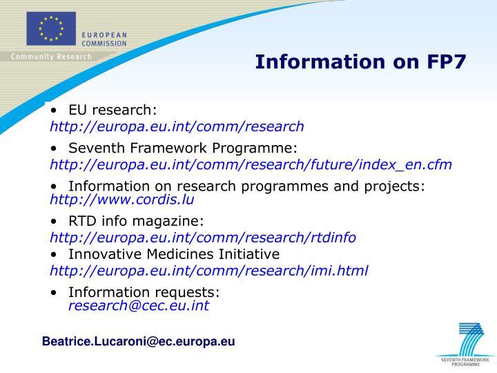 EU research: