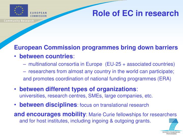 Role of ec in research