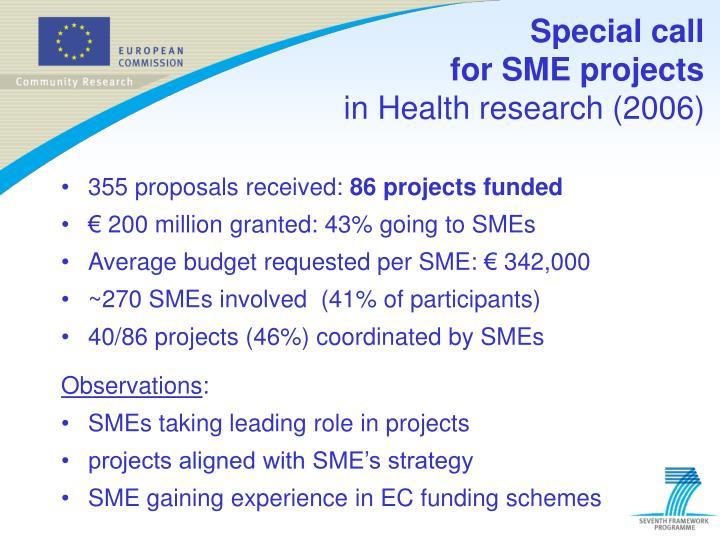 355 proposals received: