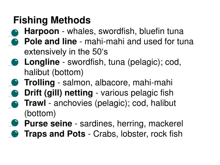 Fishing Methods