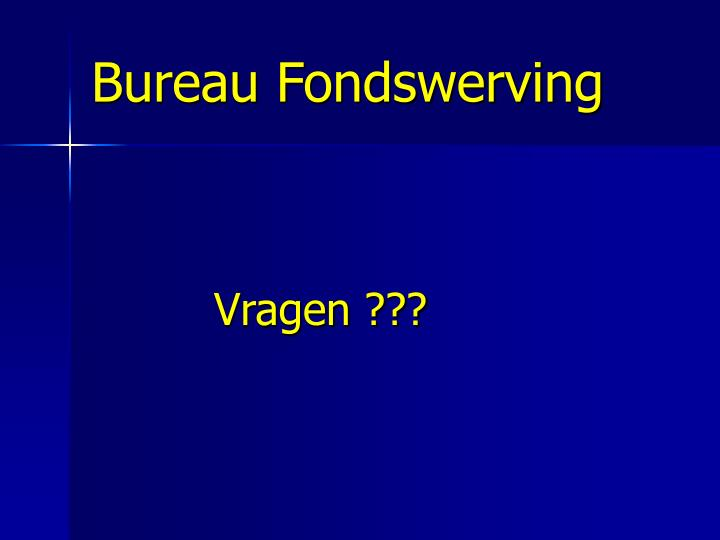 Bureau Fondswerving