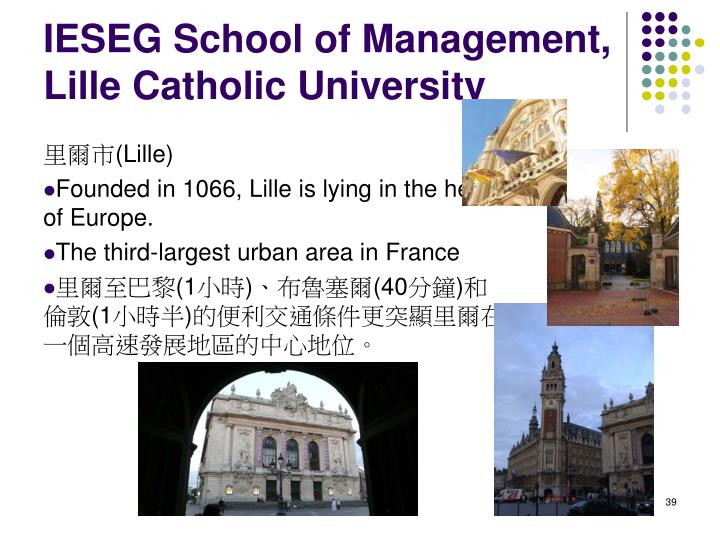 IESEG School of Management, Lille Catholic University