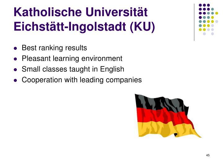 Katholische Universität Eichstätt-Ingolstadt (KU)