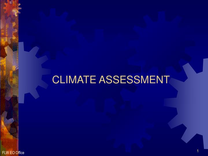 climate assessment n.