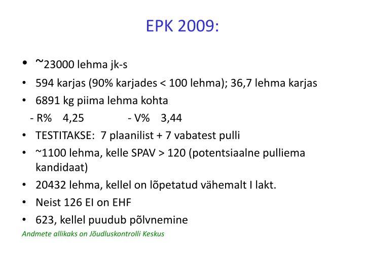 Epk 2009