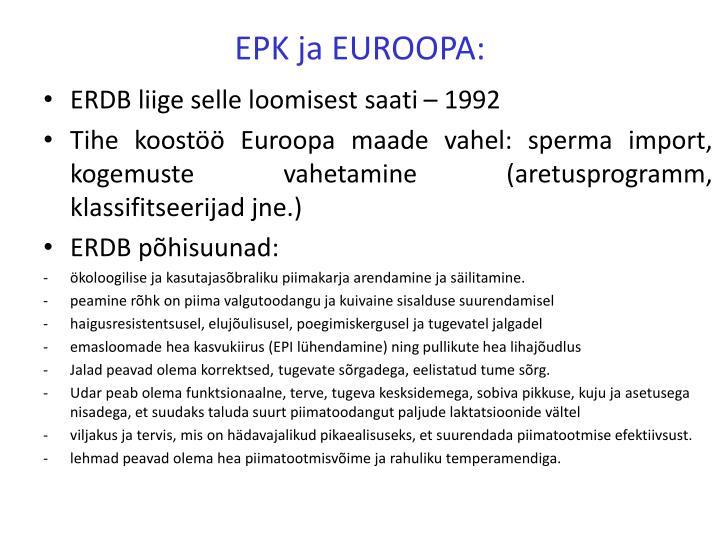 EPK ja EUROOPA:
