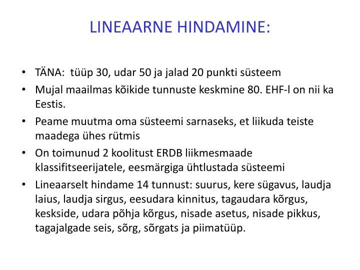 LINEAARNE HINDAMINE: