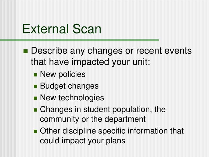 External Scan
