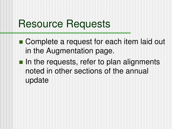 Resource Requests