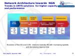 network architecture towards ngn trends in umts solutions for higher capacity and performance