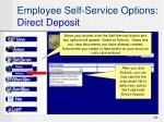 employee self service options direct deposit