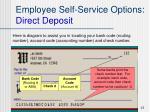 employee self service options direct deposit3