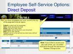 employee self service options direct deposit4