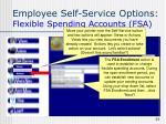 employee self service options flexible spending accounts fsa