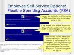 employee self service options flexible spending accounts fsa1