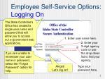 employee self service options logging on1
