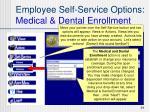 employee self service options medical dental enrollment