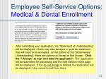 employee self service options medical dental enrollment2