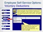 employee self service options voluntary deductions
