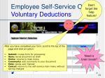 employee self service options voluntary deductions4