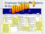 employee self service options w 2s