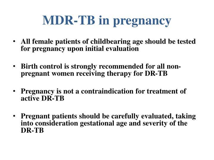 MDR-TB in pregnancy
