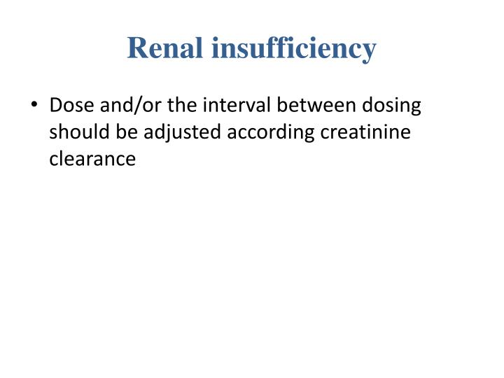 Renal insufficiency