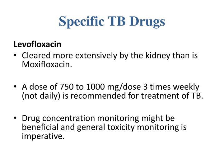 Specific TB Drugs