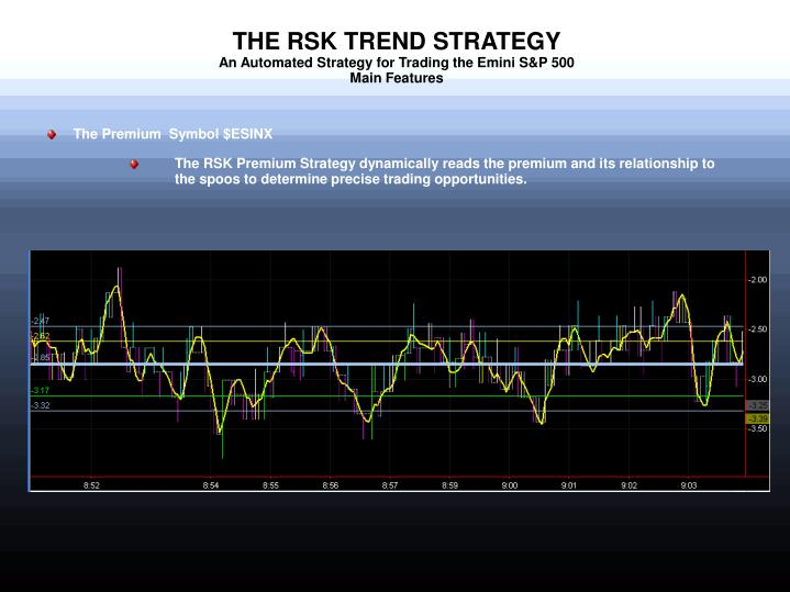 The rsk trend strategy an automated strategy for trading the emini s p 500 main features1