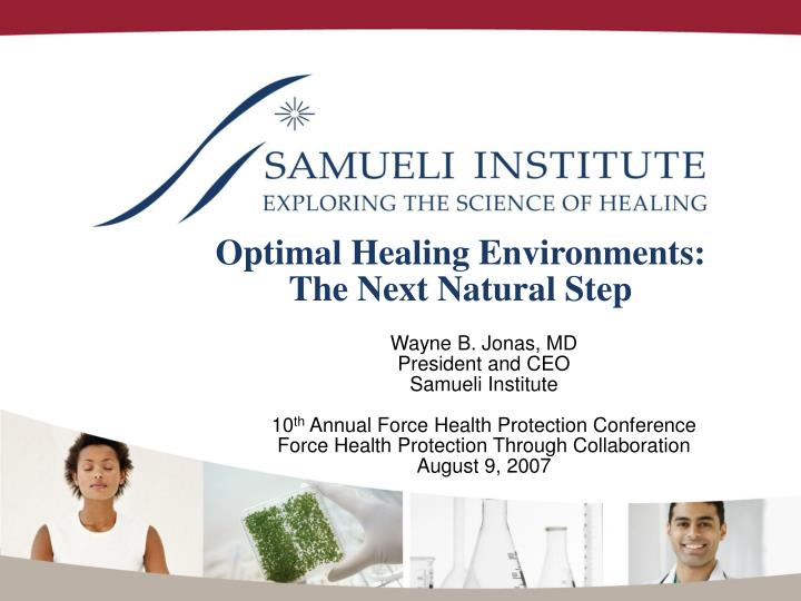 optimal healing environments the next natural step n.