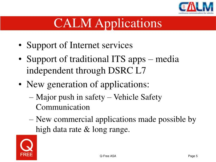 CALM Applications