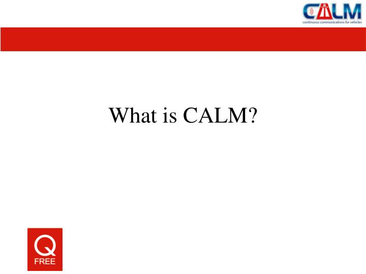 What is calm