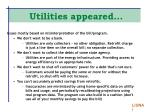 utilities appeared