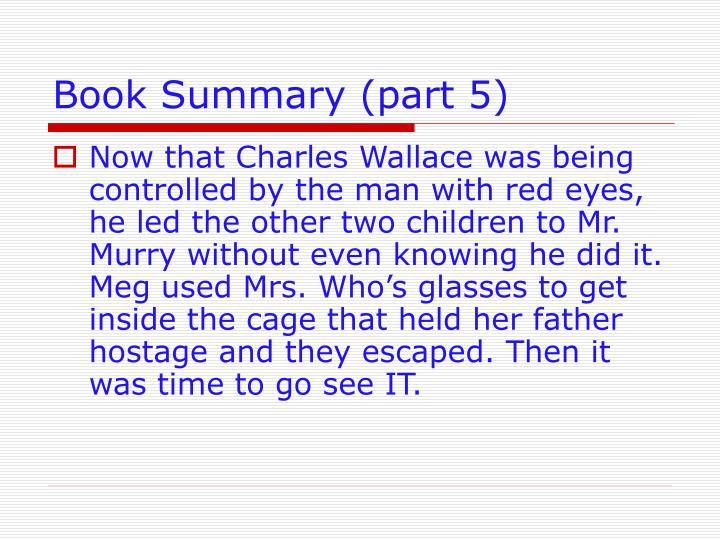 Book Summary (part 5)