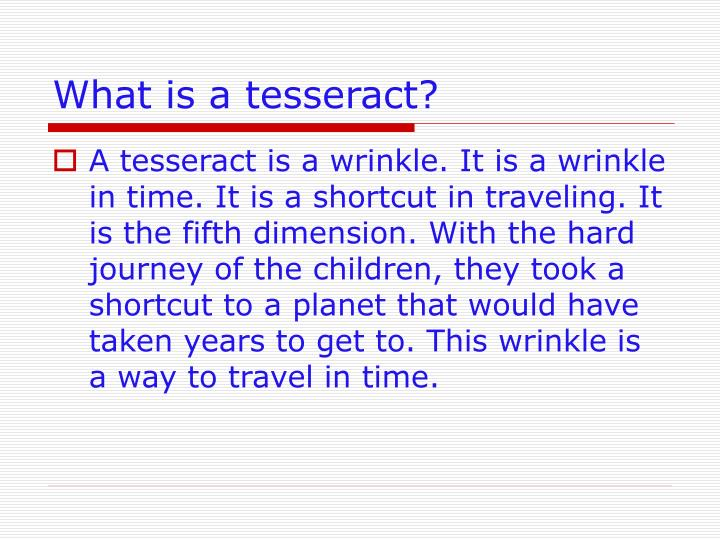 What is a tesseract?