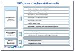 erp system implementation results