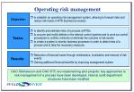 operating risk management